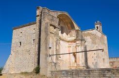 Kerk van St Pietro Craco Basilicata Italië stock afbeelding