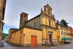Kerk van St. Rocco. Pontedell'olio. Emilia-Romagna. Italië. Stock Foto's