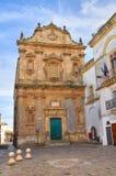 Kerk van St. Sebastiano. Galatone. Puglia. Italië. Royalty-vrije Stock Foto's