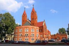 Kerk van St Simon en St.Helena in Minsk Royalty-vrije Stock Afbeeldingen