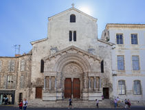 Kerk van St Trophime Arles de Provence Frankrijk Royalty-vrije Stock Fotografie