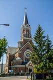 Kerk van St Wojciech de Bischop van de Martelaar Bialystok Royalty-vrije Stock Afbeelding