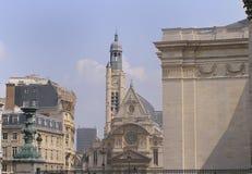 Kerk van Ste Etienne Parijs Royalty-vrije Stock Foto