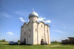 Kerk van Transfiguratie Onze Verlosser op Nereditsa-Heuvel royalty-vrije stock foto's