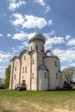 Kerk van Transfiguratie Onze Verlosser op Nereditsa-Heuvel Royalty-vrije Stock Foto
