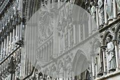 Kerk van Trondheim met Exemplaarruimte Royalty-vrije Stock Afbeeldingen