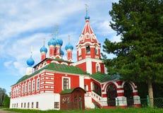 Kerk van Tsarevich Dmitry op het Bloed in Uglich Royalty-vrije Stock Foto