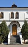 Kerk van Uitgieten van Heilige Geest 1850 bij Zachatyevsky-Klooster royalty-vrije stock afbeelding