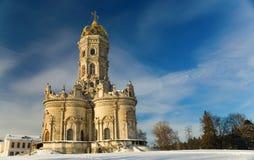 Kerk van Vergine Santa van Teken in Dubrovitsy Stock Afbeeldingen