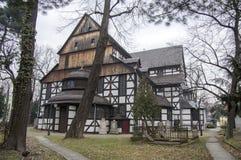 Kerk van Vredes houten erfenis in Swidnica in Polen stock foto