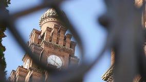 Kerk van woonplaats van Bukovinian en Dalmatische Metropolitans, nu deel van Chernivtsi-Universiteit Yuriy Fedkovych stock videobeelden