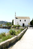 Kerk van Ypapanti, Gouvia, Korfu, Griekenland Royalty-vrije Stock Afbeeldingen