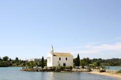 Kerk van Ypapanti, Gouvia, Korfu, Griekenland Stock Fotografie