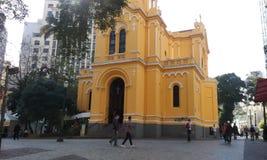 Kerk van Zwart mens-Brazilië Stock Foto