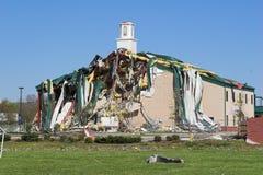 Kerk vernietigde Tn royalty-vrije stock fotografie