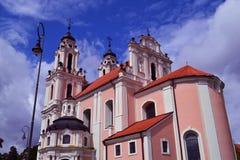 Kerk in Vilnius Stock Foto