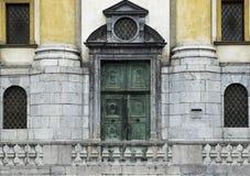 Kerk vooringang in Slovenië Stock Afbeelding
