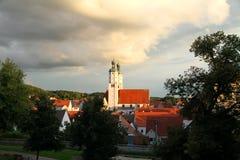 Kerk in Wemding Stock Foto's
