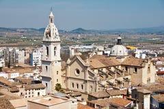 Kerk in Xativa, Spanje Stock Afbeelding