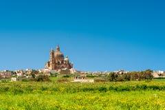 Kerk in Xewkija Gozo Stock Afbeelding