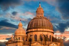 Kerk in Xewkija, Gozo, Malta stock foto