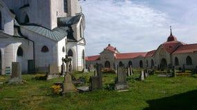 Kerk in Zelena Hora, Santini-architectuur, Tsjechische Republiek Stock Foto's