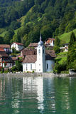 Kerk in Zwitserland Royalty-vrije Stock Foto