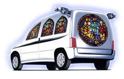 Kerkauto royalty-vrije illustratie