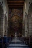Kerkbinnenland in Cagliari, Sardinige royalty-vrije stock afbeeldingen
