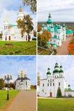 Kerken in Chernigiv, de Oekraïne royalty-vrije stock afbeeldingen