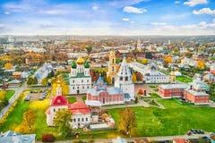 Kerken in de luchtmening van Kolomna het Kremlin royalty-vrije stock fotografie