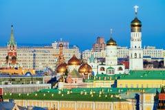 Kerken en Senaat van het Kremlin van Moskou stock foto's