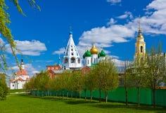 Kerken in Kolomna het Kremlin - het gebied van Moskou - Rusland stock afbeelding