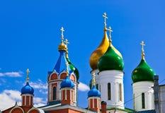 Kerken in Kolomna het Kremlin - het gebied van Moskou - Rusland royalty-vrije stock foto's