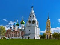 Kerken in Kolomna het Kremlin - het gebied van Moskou - Rusland royalty-vrije stock foto