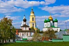Kerken in Kolomna het Kremlin - het gebied van Moskou - Rusland stock foto