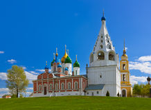 Kerken in Kolomna het Kremlin - het gebied van Moskou - Rusland royalty-vrije stock fotografie