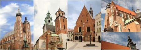 Kerken in Krakau Royalty-vrije Stock Foto