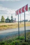 Kerken in Nizhnyaya Sinyachikha Rusland Royalty-vrije Stock Foto's