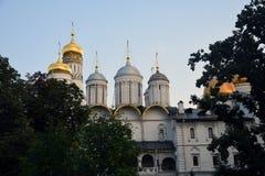 Kerken van Moskou het Kremlin De Plaats van de Erfenis van de Wereld van Unesco stock afbeeldingen