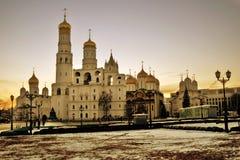 Kerken van Moskou het Kremlin Kleurenfoto royalty-vrije stock fotografie