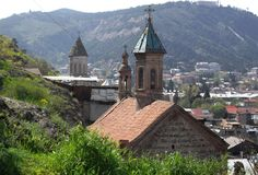 Kerken van Oud Tbilisi Stock Afbeelding
