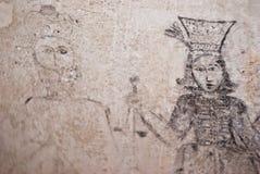 Kerkers van Inquisition.graffiti Royalty-vrije Stock Afbeelding