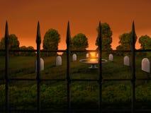 Kerkhof - Digitale Illustratie Stock Afbeelding