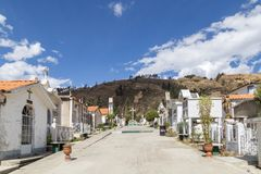 Kerkhof in Huaraz, Peru Royalty-vrije Stock Fotografie