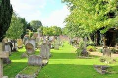 Kerkhof in Surrey stock afbeeldingen