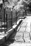 Kerkhof, zwart wit foto Royalty Free Stock Photo