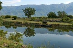Kerkini lake and mountain ecoarea Royalty Free Stock Photos