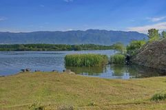 Kerkini lake at nord Greece Royalty Free Stock Image