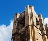 Kerkklokketoren in Lissabon Portugal royalty-vrije stock afbeelding